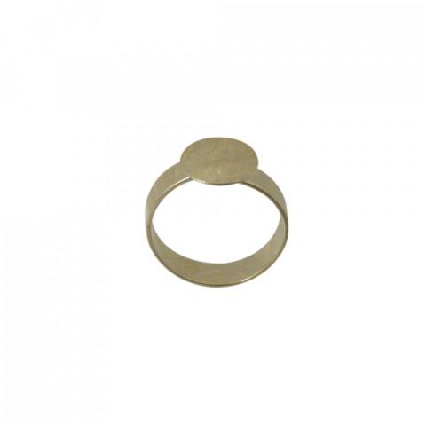 Base Anello Apertura Sup. c/ Piattina ø 10,5mm in Ottone 10pz Oro Light