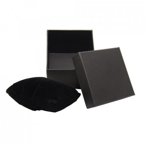 Scatola per Bracciale Schiava con Cuscino - L8xP8 - H8cm - 12pz Nero