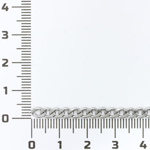 Groumette Battuta 5,5x3,9mm fl 0,6 in Acciaio Inossidabile 10mt Naturale