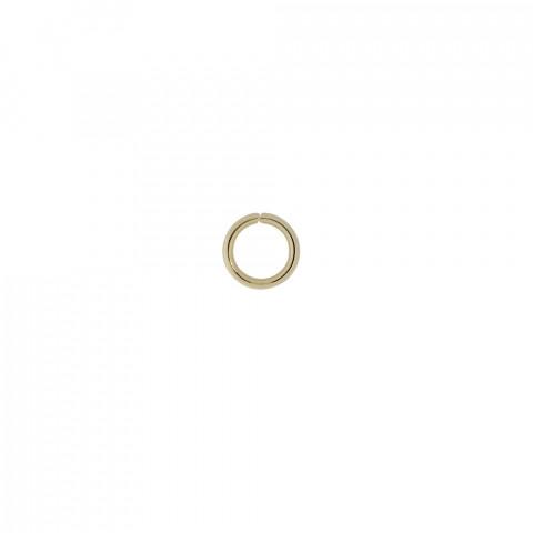 Anellino in Acciaio Inossidabile int.5,5mm fl.1,2 - 250pz Oro Light