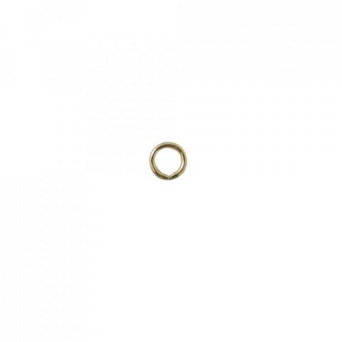 Anellino in Ottone ø int.4 fl 1mm 500pz Oro Light