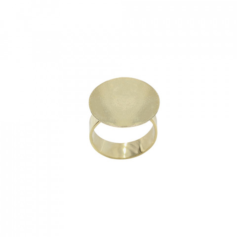 Base Anello Apertura Sup. c/ Piattina ø 20mm in Ottone 10pz Oro Light