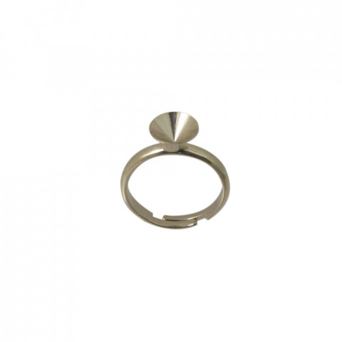Base Anello c/castone per SW.1088 (SS39) in Ottone-12pz Oro Light