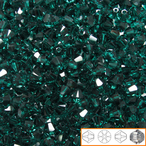 Bicono Swarovski 4 mm - 144 pz Emerald