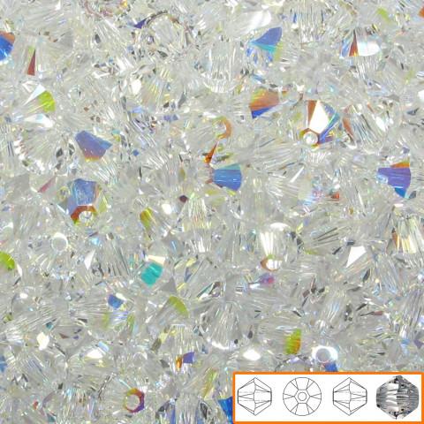 Bicono Swarovski 6 mm - 360 pz Crystal AB