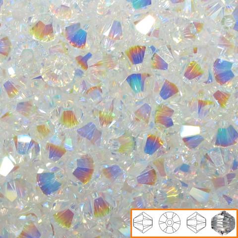 Bicono Swarovski 6 mm - 60 pz Crystal AB 2x