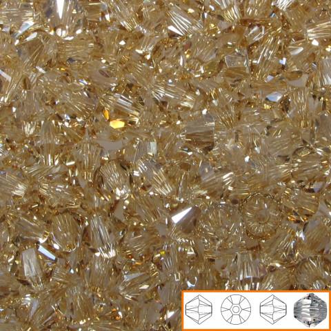 Bicono Swarovski 6 mm - 60 pz Crystal Golden Shadow