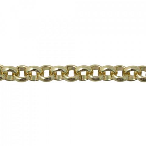 Catena Rolo' in Alluminio - ø int.7 mm fl 2,5mm - 5mt Oro