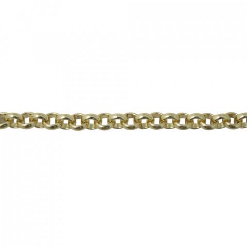 Catena Rolò in Alluminio ø6mm fl 1,5mm 10mt Oro