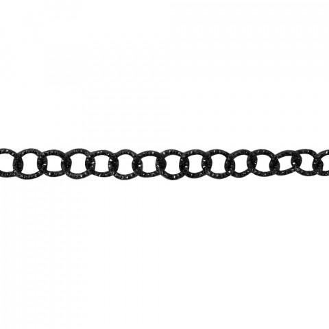 Catena Tonda Diamantata Allum.øint.5mm-fl1,8mm-10mt Nero