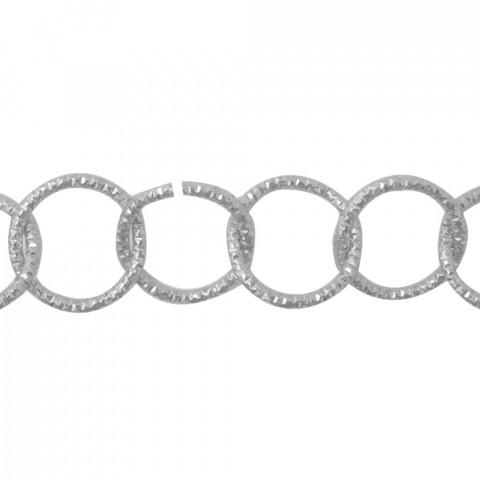 Catena Tonda Diamant. in Allum.øint.18mm-fl2,5mm-10mt Argento