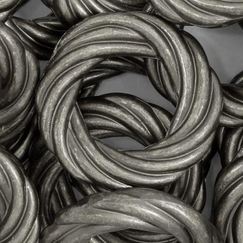 Cerchio Intrecciato in Resina 53mm ~20pz 250gr Spazzolato Argento