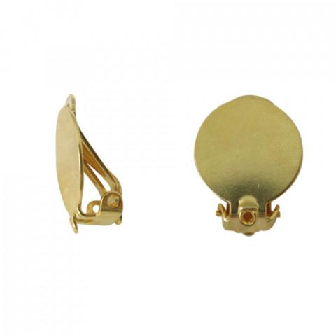Clip Piatta con Anellino in Metallo ø17mm 50pz Oro