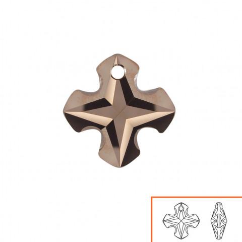 Croce Greca (6867) 18 mm - 2 pz Crystal Rose Gold 2x