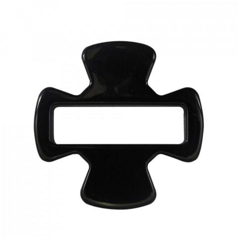 Croce Quadrata 44x44mm int.35x10mm in Resina 10pz Nero