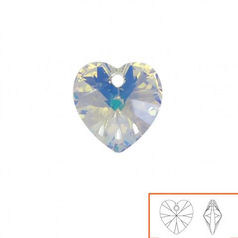 Cuore Swarovski (6228) 10 mm - 24 pz Crystal AB