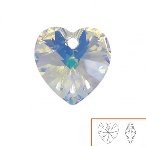 Cuore Swarovski (6228) 14 mm - 12 pz Crystal AB