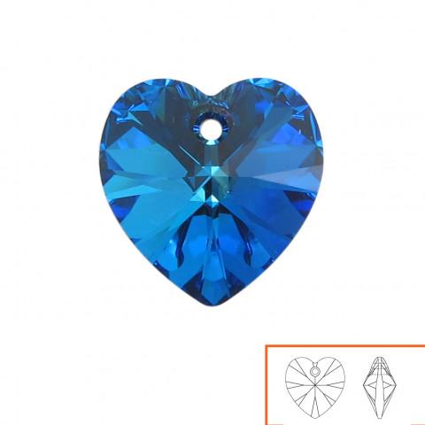 Cuore Swarovski (6228) 14 mm - 12 pz Crystal Bermuda Blue