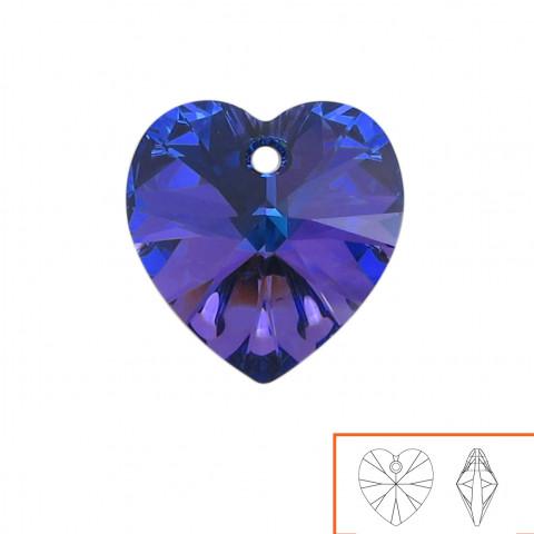 Cuore Swarovski (6228) 14 mm - 12 pz Crystal Heliotrope