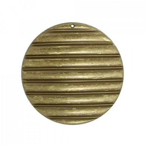 Disco Righe Orizzontali Resina 51mm 1foro~42pz 250gr Spazzolato Oro