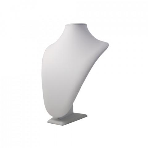 Espositore per Collana Ecopelle 1° Mis. Econ. L23xH27xP11cm Bianco