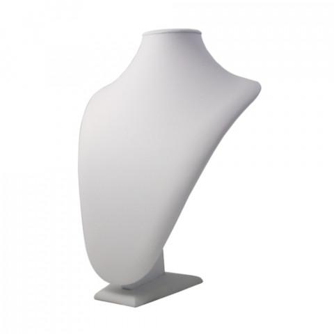 Espositore per Collana Ecopelle 2° Mis. Econ. L26xH33xP13cm Bianco