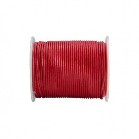Filo di Cuoio - ø 1,5 mm - 50 mt Rosso