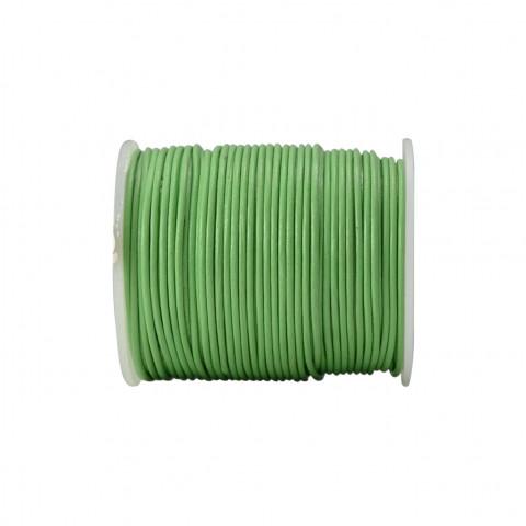 Filo di Cuoio - ø 1,5 mm - 50 mt Verde Chiaro