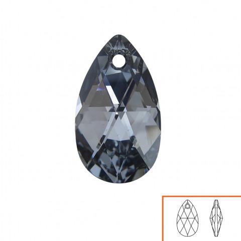 Goccia Pendente Swarovski 16 mm - 6 pz Crystal Light Chrome