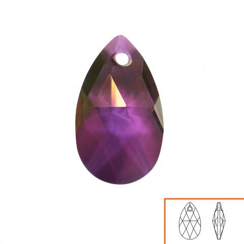 Goccia Pendente Swarovski 16 mm - 6 pz Crystal Lilac Shadow
