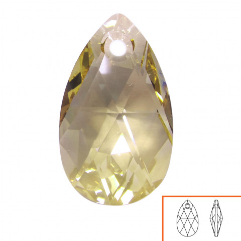Goccia Pendente Swarovski 22 mm - 4 pz Crystal Golden Shadow