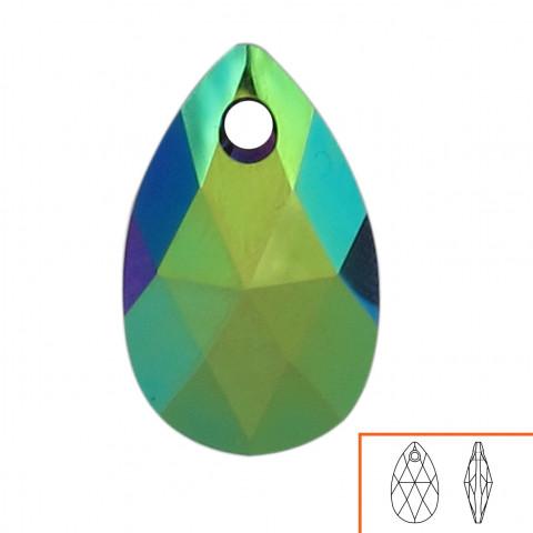 Goccia Pendente Swarovski 22 mm - 4 pz Crystal Scarabaeus Green
