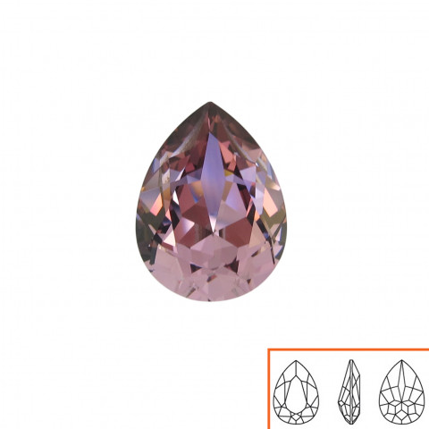 Goccia Swarovski (4320) 18x13 mm - 8 pz Crystal Antique Pink F