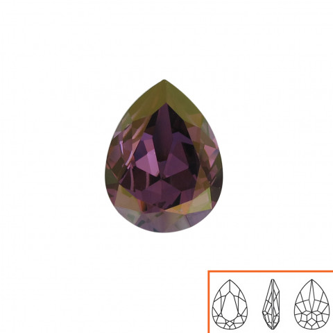 Goccia Swarovski (4320) 18x13 mm - 8 pz Crystal Lilac Shadow F