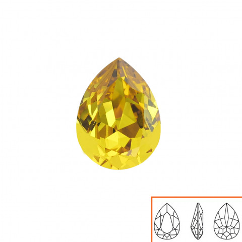 Goccia Swarovski (4320) 18x13 mm - 8 pz Sunflower F