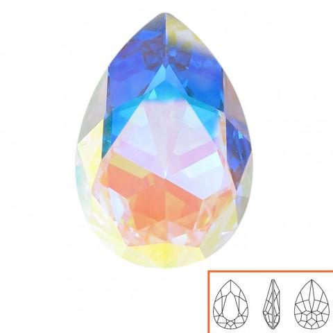 Goccia Swarovski (4327) 30x22 mm - 2 pz Crystal AB F