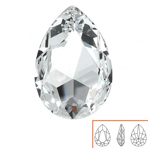 Goccia Swarovski (4327) 30x22 mm - 2 pz Crystal F