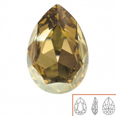 Goccia Swarovski (4327) 30x22 mm - 2 pz Crystal Golden Shadow F