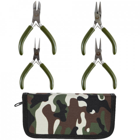 Mini Set 4 Pinze - 1pz Militare Verde