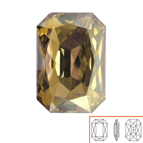 Ottagono Swarovski (4627) 27x18,5 mm - 2 pz Crystal Golden Shadow F