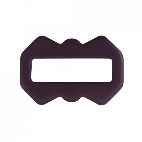 Ovale Dentato 44x30mm int.35x10mm in Resina 10pz Opaco Melanzana