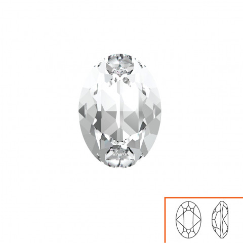 Ovale Swarovski (4120) 18x13 mm - 8 pz Crystal F