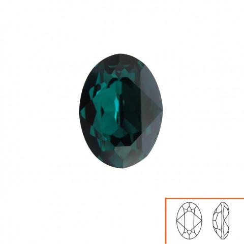 Ovale Swarovski (4120) 18x13 mm - 8 pz Emerald F