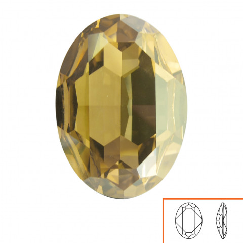 Ovale Swarovski (4127) 30x22 mm - 2 pz Crystal Golden Shadow F
