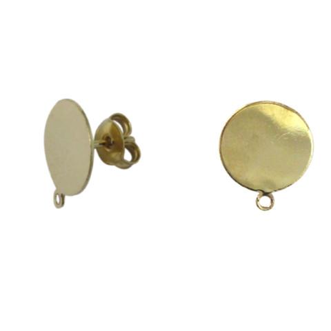 Perno Piatto c/anellino e Farfallina in Metallo ø15mm 20pz Oro Light