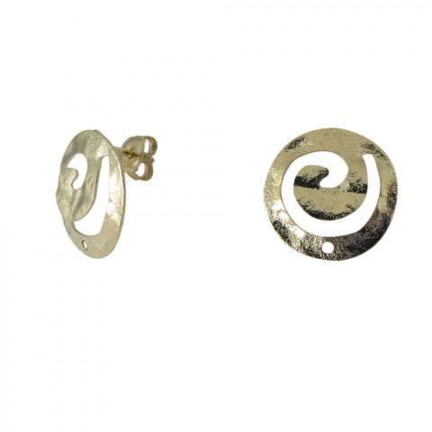 Perno Spirale c/foro e Farf. in Ottone ø18mm 10pz Oro Light
