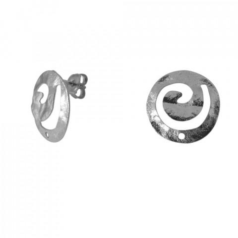Perno Spirale c/foro e Farf. in Ottone ø18mm 10pz Rodio