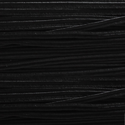 Piattina Soutache -  H3 mm - 20 mt Nero