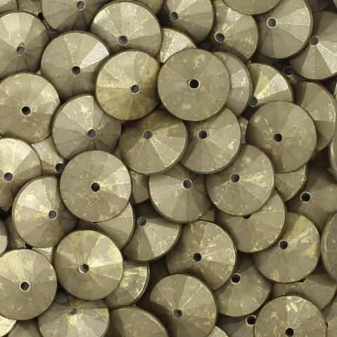 Rondella in Resina 15mm h7mm f.1,8mm ~368pz 250gr Spazzolato Oro