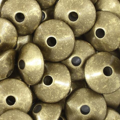 Rondella in Resina 25x13mm f.5,6mm ~70pz 250gr Spazzolato Oro